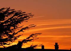 Ciel Niort 79000 Joli contraste en fin de journée