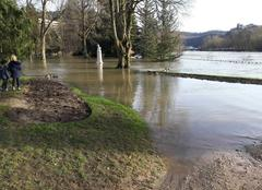 Ciel Besançon 25000 Inondation au parc Micaud