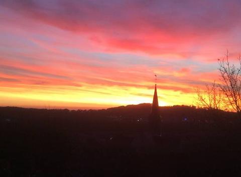 Coucher de soleil sur Creancey
