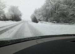 Neige Champier 38260 Épisode neigeux sur l'isère