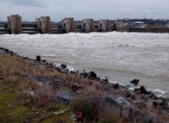 Pluie Pierre-Benite 69310 Crue barrage de Pierre bénite