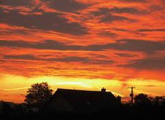 Ciel Wavrans-sur-l'Aa 62380 Coucher de soleil