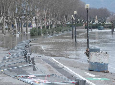 L'eau s'est retirée du quai Farconnet.