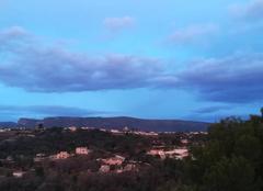 Ciel Colomars 06670 Nuage bleu violet