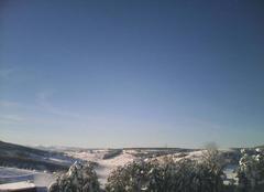 Neige Châteauneuf-de-Randon 48170 Vue sur le mont lozère