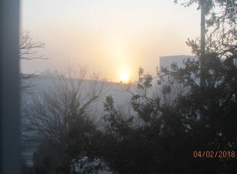 Lever de soleil d hiver