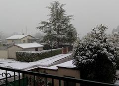 Neige Taponas 69220 Neige depuis se matin