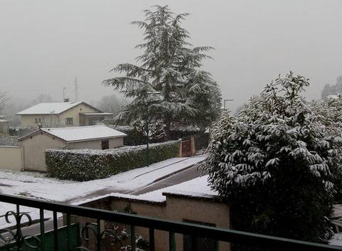 Neige depuis se matin