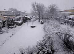 Neige Saint-Beauzire 63360 Il neige à Saint BEAUZIRE