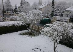 Neige Vatan 36150 Réveil sous la neige