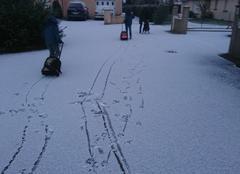 Neige Sulniac 56250 Départ pour l'école