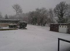 Neige Saint-Brandan 22800 Les côte d'Armor sous la neige
