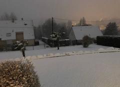 Neige Vire 14500 Vire Normandie sous la neige
