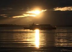 Ciel Thonon-les-Bains 74200 Soleil couchant sur le Lac Léman fin de journée