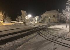 Neige Savigne-sur-Lathan 37340 C?est beau