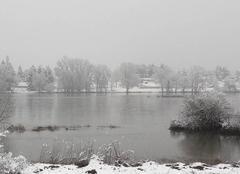 Neige Jargeau 45150 La Loire sous la neige