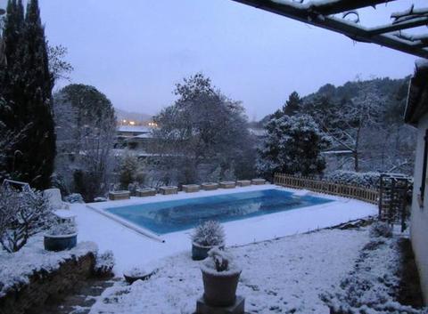 Neige ce matin à Limoux