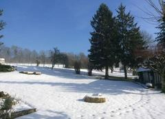 Neige Saint-Julien-de-Mailloc 14290  Soleil et neige en Normandie