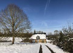 Neige Hermival-les-Vaux 14100 Le pays d?Auge sous la neige..