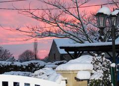Ciel Semblancay 37360 Le ciel un soir de neige