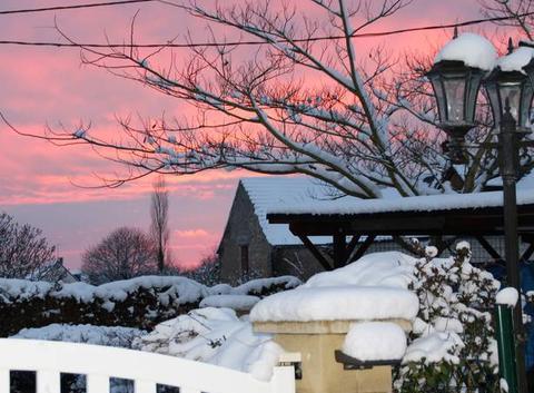 Le ciel un soir de neige