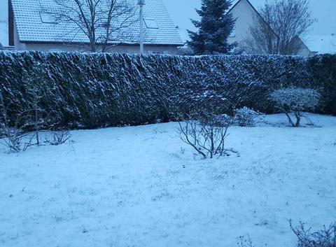 Petit manteau neigeux ce matin