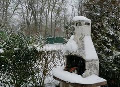 Neige Croth 27530 Jardin sous la neige