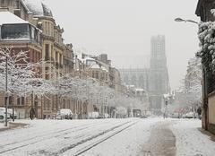 Ciel Reims 51100 Encore une belle journée enneigée!