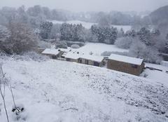 Neige Saint-Mars-la-Reorthe 85590 La vallée du Pouët enneigée