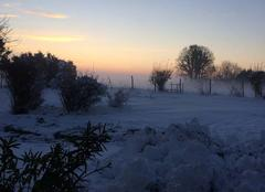Neige Gohory 28160 Levée du soleil au Menard