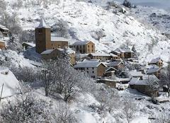 Neige Sauto 66210 Le nid d'aigle sous la neige