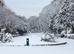 Neige Pontoise 95300 Le jardin de la ville