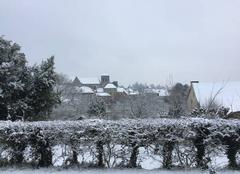 Neige Saint-Yrieix-la-Perche 87500 Vue de la collégiale sous la neige
