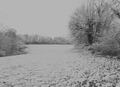 Neige Martiel 12200 La Neige aussi dans l'aveyron ce 9 fevrier 2018