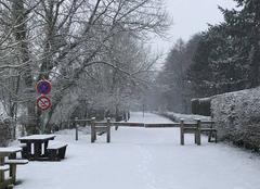 Neige Dimont 59216 Dimont sous la neige