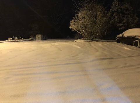 Neige à champs sur tarentaine le 10/02/2018