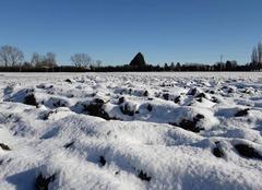 Neige Hombleux 80400 Au lendemain de l'épisode neigeux du 09 février 2018