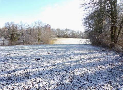 Paysage d'hiver oust aveyron ce matin 4 cm de neige