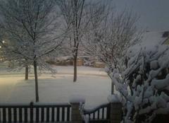 Tempête Montataire 60160 A la montagne ? Non dans l Oise 12 cm de neige