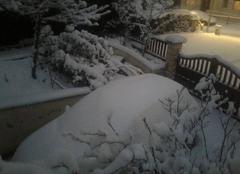 Tempête Montataire 60160 Complètement ensevelie ! jour de neige dans l Oise