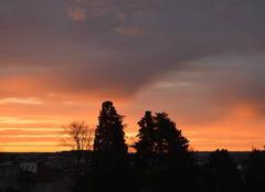Ciel Ales 30100 Lever du soleil sur ALès