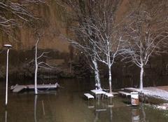 Neige Le Perreux-sur-Marne 94170 Marne en crue avec de la neige