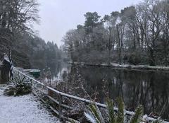 Neige Berric 56230 La neige est tombée en Bretagne sud