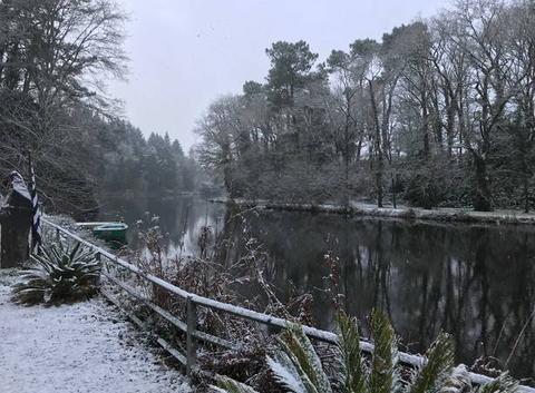 La neige est tombée en Bretagne sud