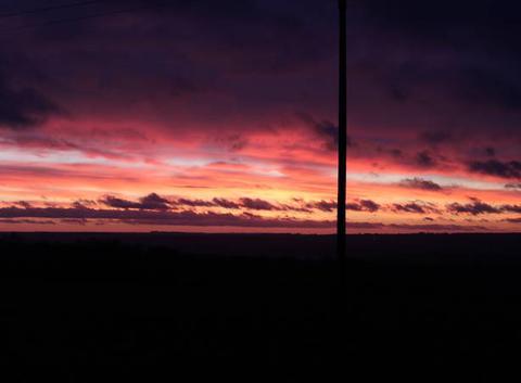 Ciel agité au lever du jour
