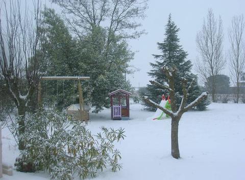 Neige à Saint-Lys