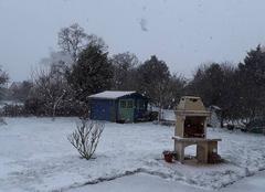 Neige Saint-Arnoult-des-Bois 28190 Mon jardin sous la neige