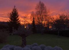Ciel Pellouailles-les-Vignes 49112 Lever de soleil