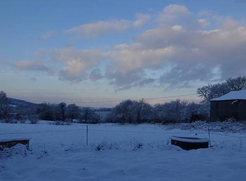 L'Argoat sous la neige