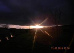 Ciel Castels 24220 Coucher de soleil et nuage menaçant